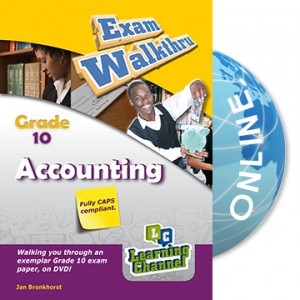Grade 10 Exam WalkThru Accounting